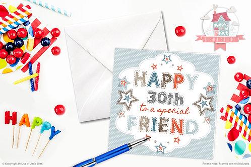 Male Birthday Personalised Greetings Card