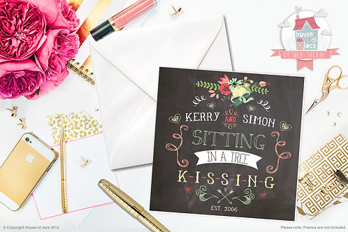 Kissing Personalised Greetings Card