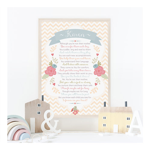 Carer Poem Personalised Art Print
