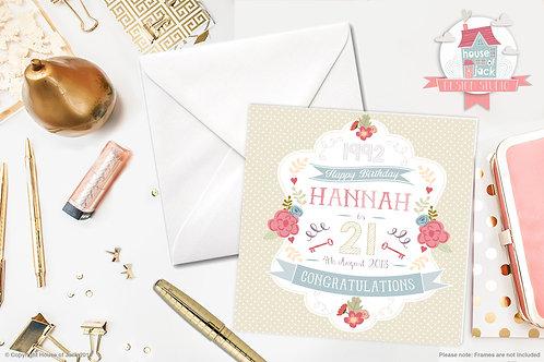 Female Birthday Personalised Greetings Card