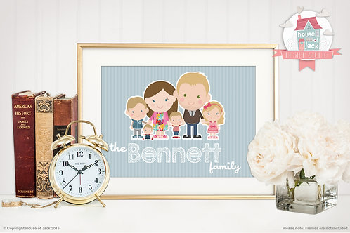 Family Portrait (Landscape) Personalised Art Print