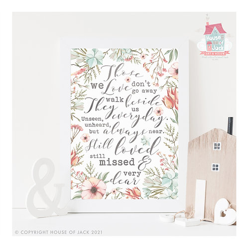 Those We Love Art Print