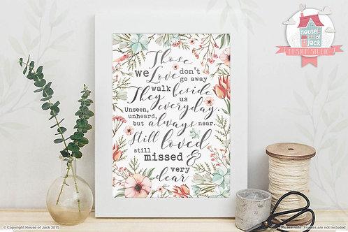 Those We Love Art Print