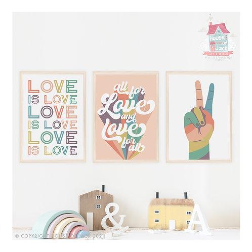 Pride Quotes Art Print Trio