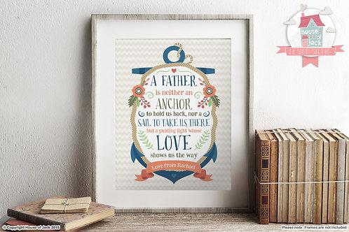 Anchor Personalised Art Print