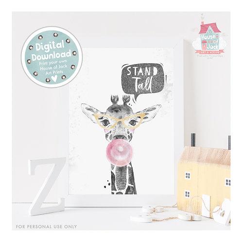 Wild At Heart Stand Tall Pink Digital Art Print