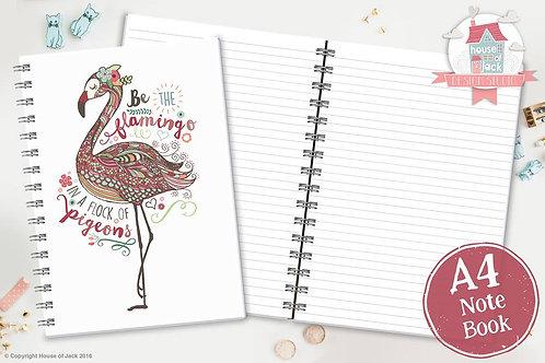 Flamingo A4 Notebook