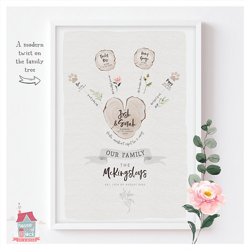 Modern Family Tree - Sparkle Market Night Special Offer