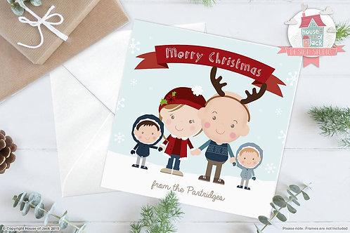 Christmas Portrait Personalised Greetings Card
