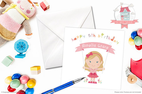 Jelly Tot Girl Personalised Greetings Card