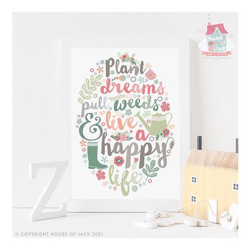 Plant Dreams Art Print