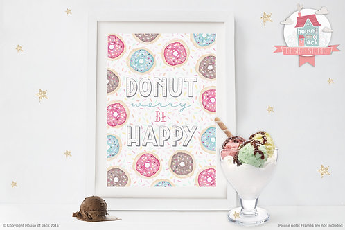 Donut Worry - Art Print