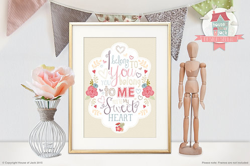 Sweetheart Personalised Art Print