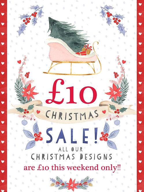 £10 Christmas Sale!!! Designs 1 - 9