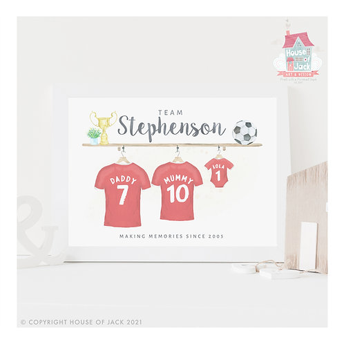 Football Family Personalised Art Print