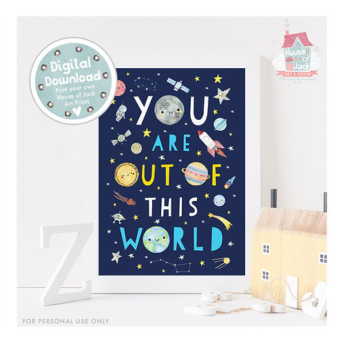 Out of This World Digital Art Print