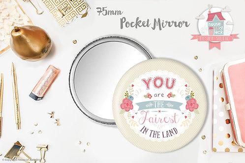 Fairest - Personalised Pocket Mirror