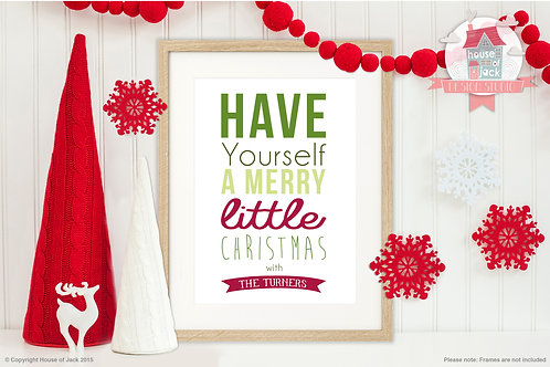 Christmas with the... - Personalised Art Print