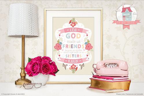Friends Personalised Art Print