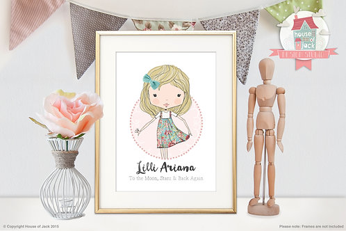 Little Darlings Personalised Child Portrait