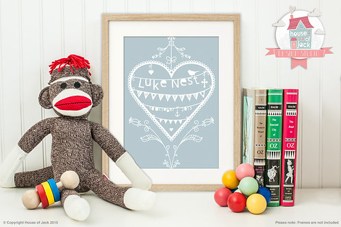 """""""Occasion Heart"""" Personalised Art Print"""