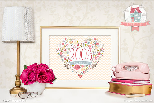 Special Date Personalised Art Print