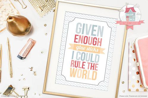 """""""Enough Glue"""" Personalised Art Print"""