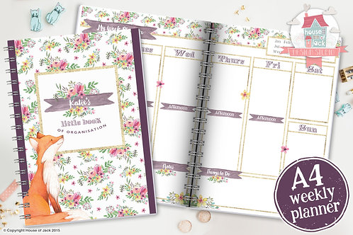 Foxy Weekly Planner
