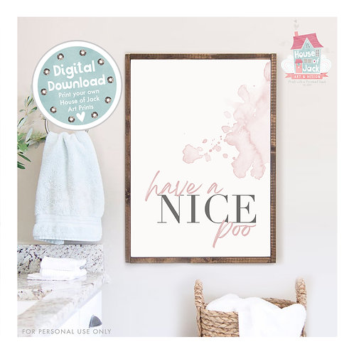 Nice Poo Bathroom Digital Art Print