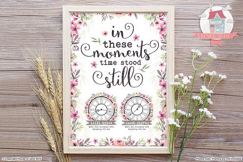 Time Stood Still - Personalised Art Print