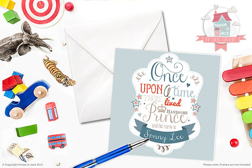 Once Upon a Prince Personalised Greetings Card
