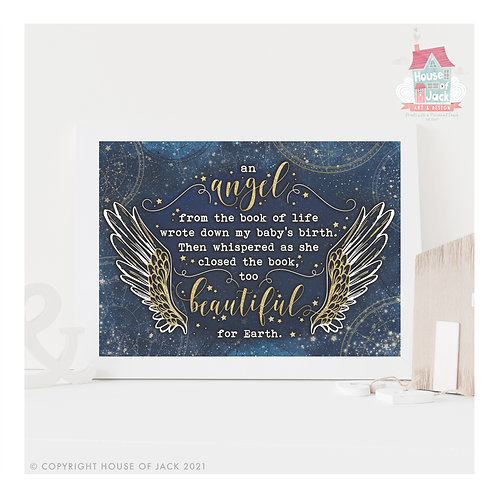 Angel Personalised Art Print
