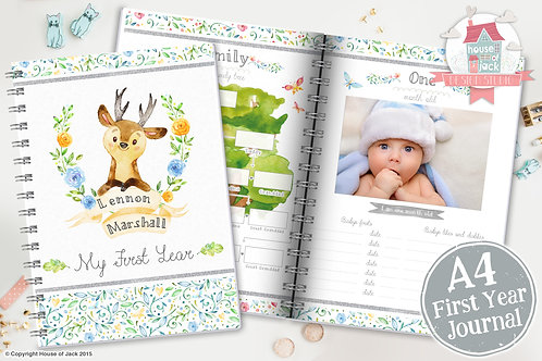 My First Year Baby Boy Journal