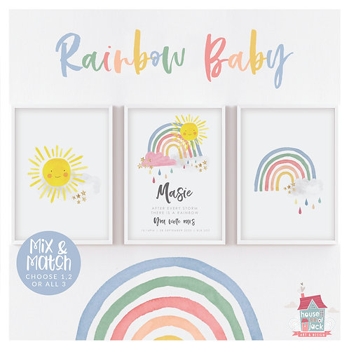 Rainbow Baby Trio - Sparkle Market Night Special Offer