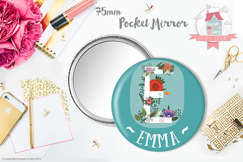 Initial - Personalised Pocket Mirror