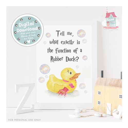 Rubber Duck Digital Art Print