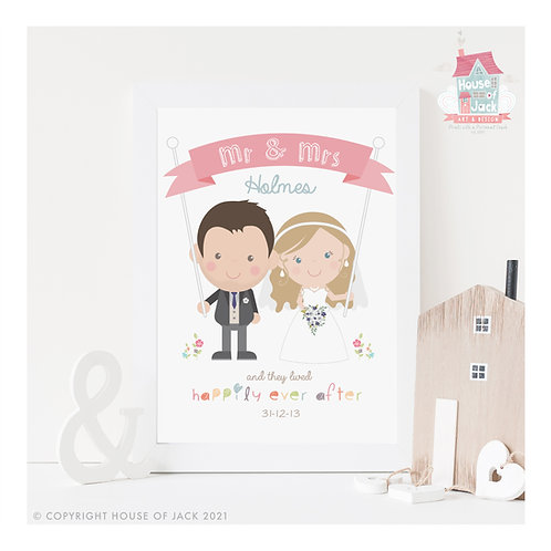 Jelly Tot Wedding Personalised Art Print