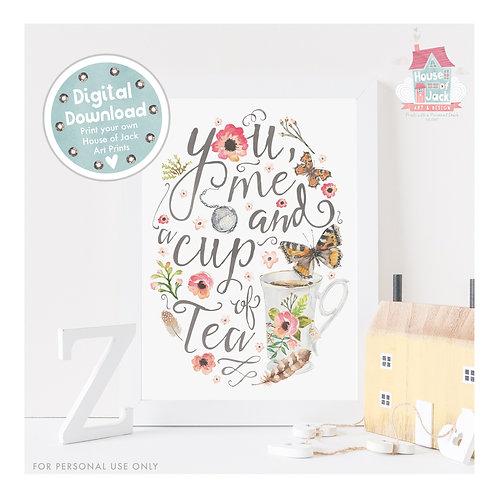 Tea Digital Art Print