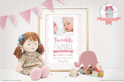"""""""Twinkle Girl"""" Personalised Art Print"""