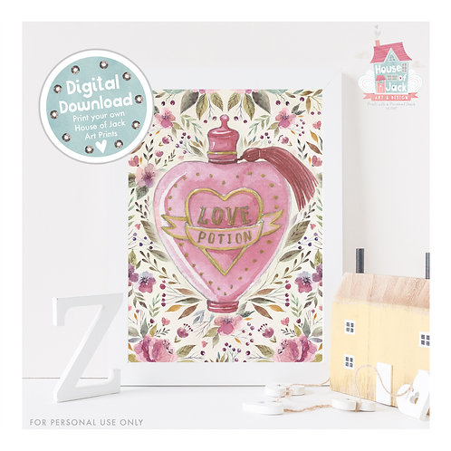 Love Potion Digital Art Print