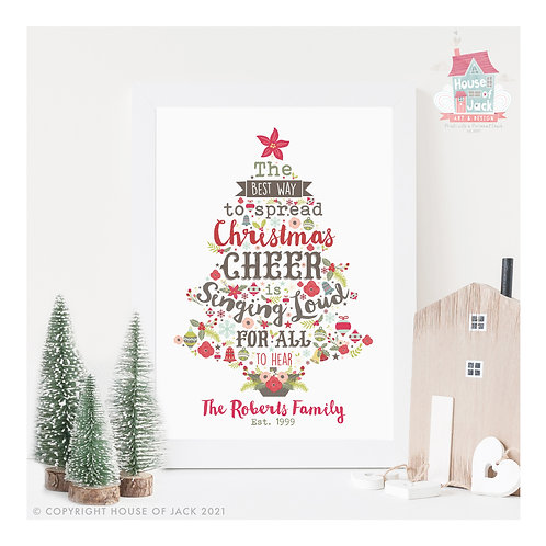 Christmas Cheer - Personalised Art Print