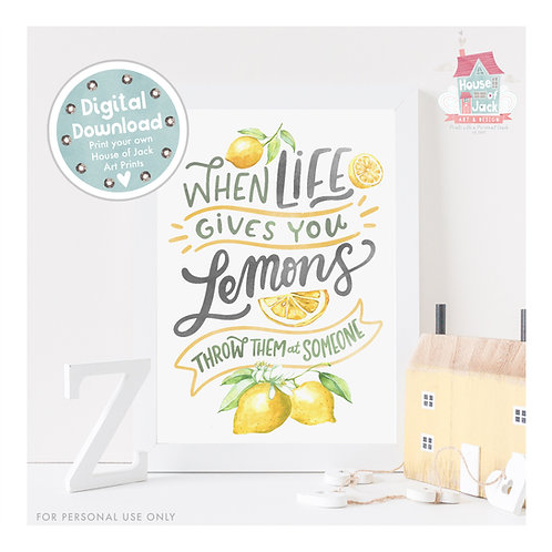Lemons Digital Art Print