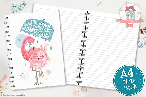 Flamingo Dance A4 Notebook