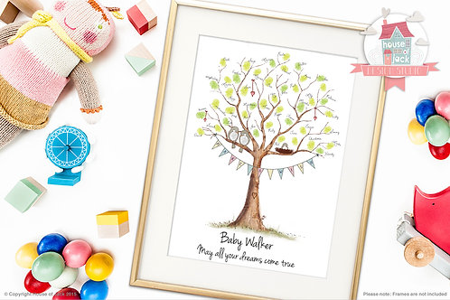 """New Baby Wishing Tree"" Personalised Art Print"