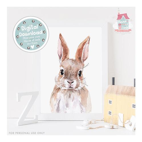 Bunny Once Upon a Woodland Digital Art Print