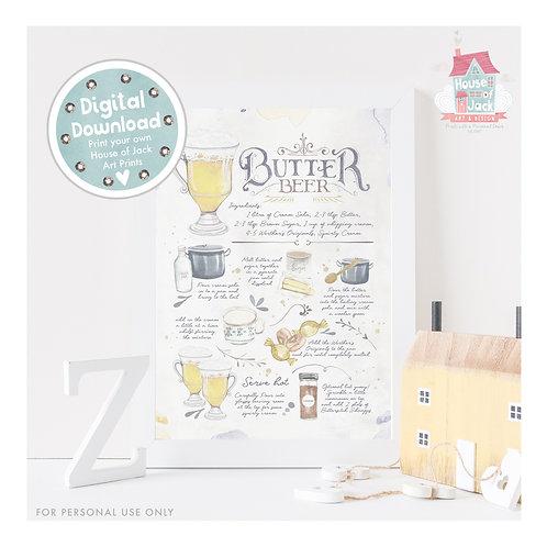 Butter Beer Digital Art Print