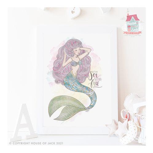 Set You Free - Mermaid Art Print