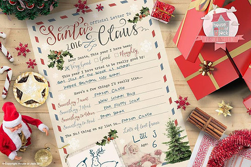North Pole Letters - Letter To Santa Template
