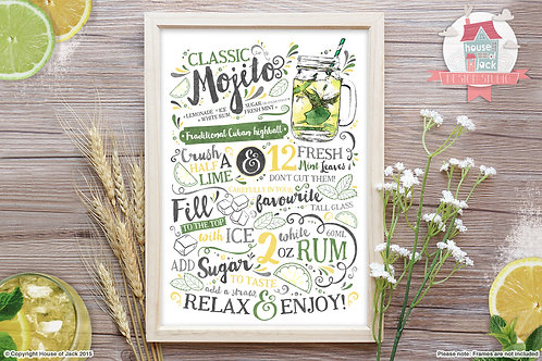 Cocktail Recipe - Art Print