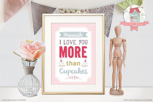 """More Than"" Personalised Art Print"